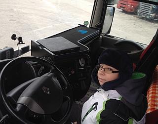 Adamko sa vozil v obrovskom kamióne!